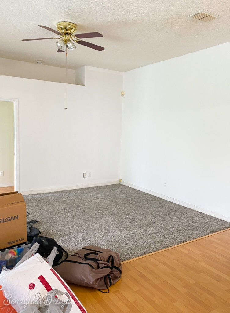 living area before