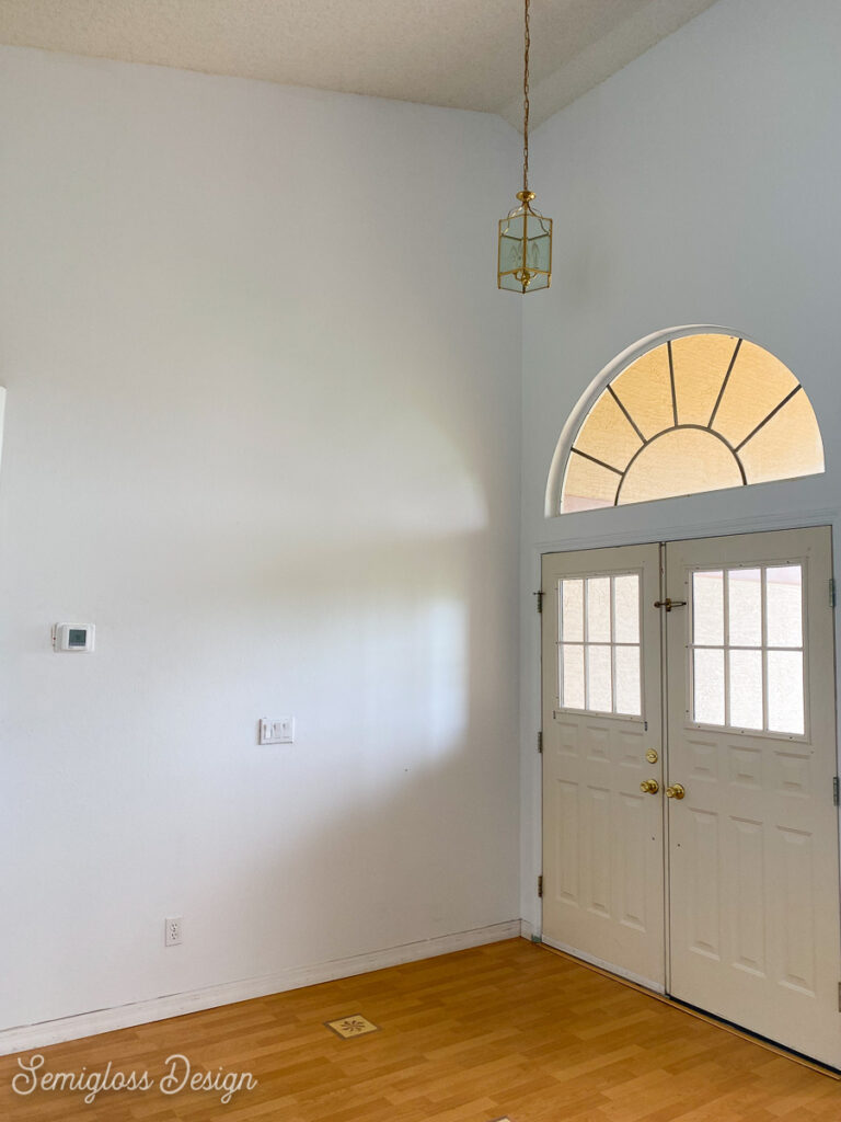 entryway with high ceilings
