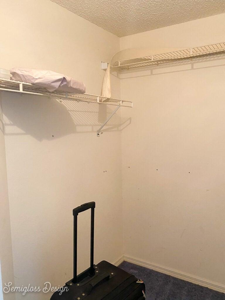 primary closet before