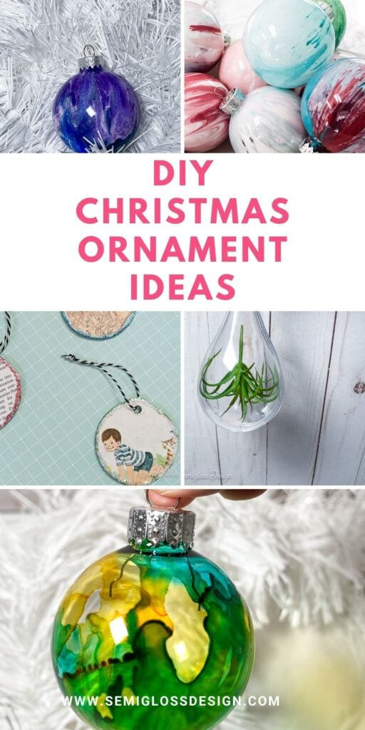 collage of handmade ornaments
