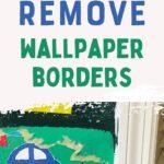 putty knife scraping away wallpaper border