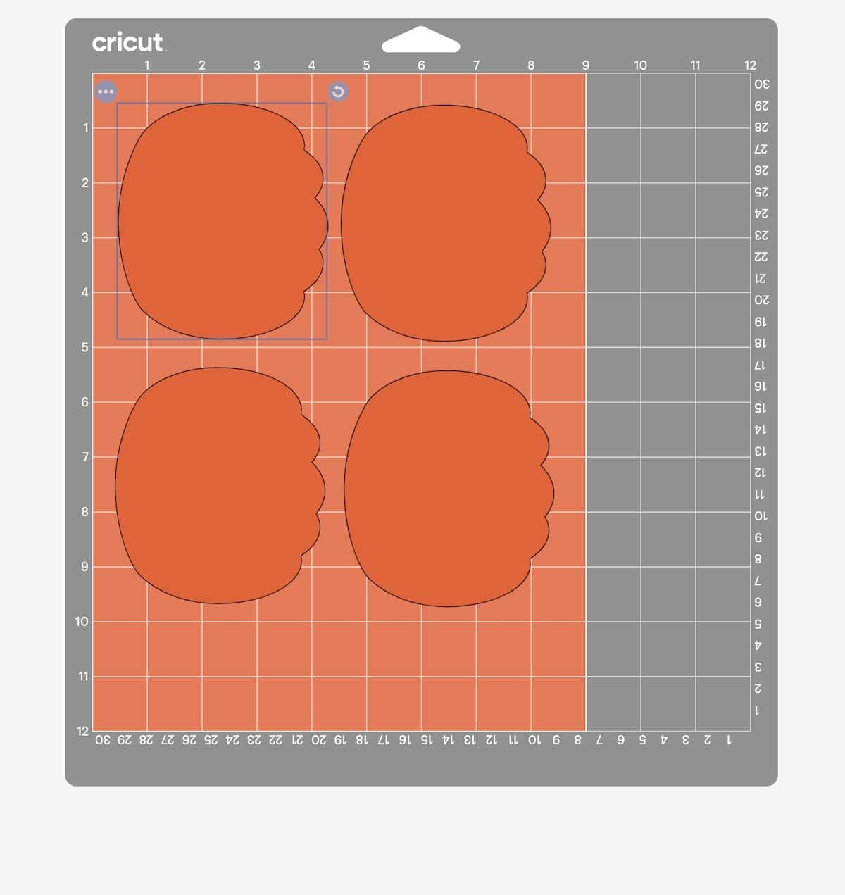 screenshot of cricut design space cutting pumpkins