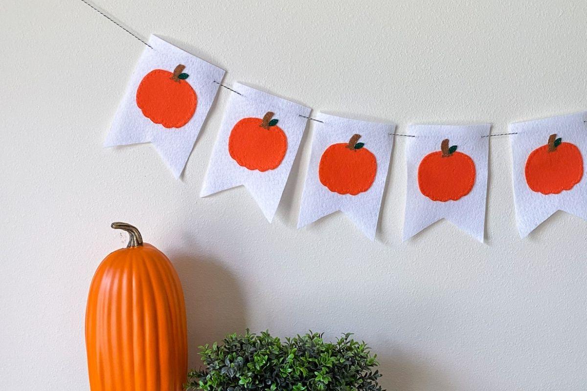 pumpkin banner on wall