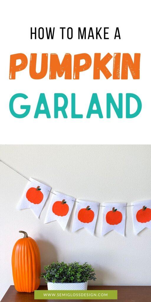 fall pumpkin garland